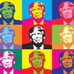 Donald Trump in Ardy Warhol Style